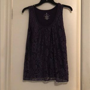 NY&C reap nice purple lace  tank top size small.